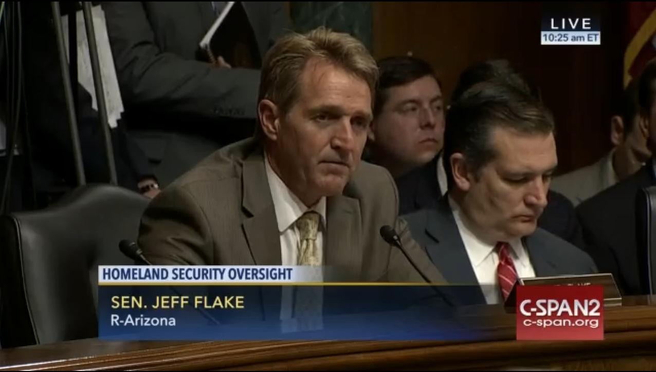 Sen  Jeff Flake Raises Concern Over CBP Polygraph Practices